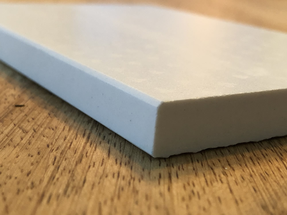 micro-bevel top and bottom