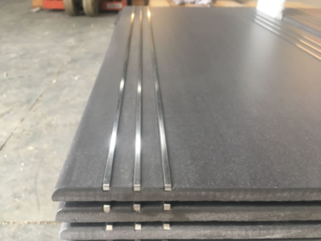 Lines filled with Stainless steel or brass Style C