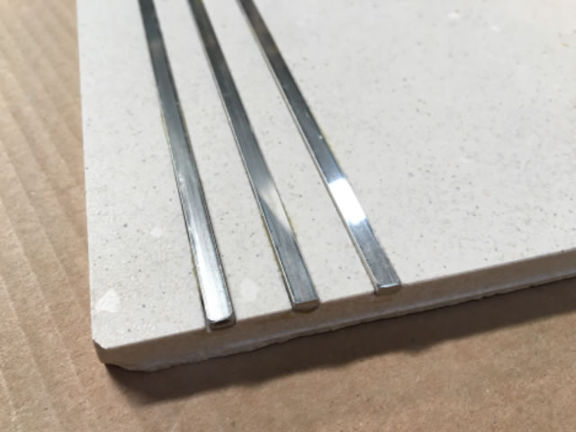 Lines filled with Stainless steel or brass Style F
